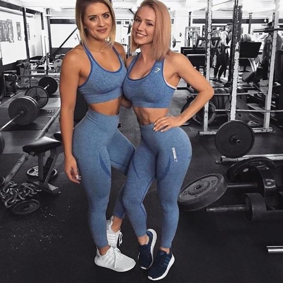 ba0f279cf25d2 Gymshark Pants - Gymshark Seamless Leggings - Blueberry Marl